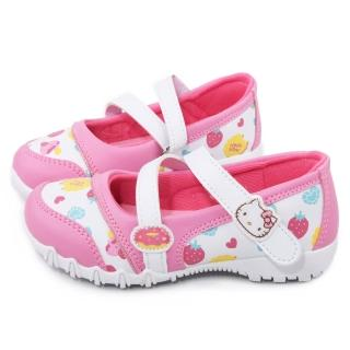 【三麗鷗】Hellokitty 三麗鷗 繽紛馬卡龍風休閒鞋(715925-白粉)