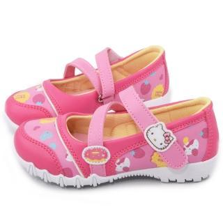 【三麗鷗】Hellokitty 三麗鷗 繽紛馬卡龍風休閒鞋(715925-粉)