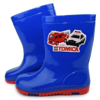 【童鞋城堡】Tomica多美小汽車雨鞋(TM7709-藍)