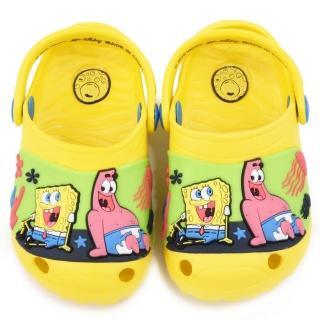 【童鞋城堡】海綿寶寶 中童 輕量立體花園鞋(SG2769-黃)