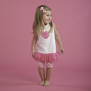【Mud Pie】愛心雪紡背心連身裙套裝組 #173402