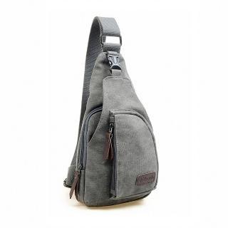 【DF BAGSCHOOL】日式吉田風帆布款休閒單肩斜背包(共4色)