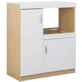 【奧古德】鏡面雙門五格廚房收納櫃(鏡面)