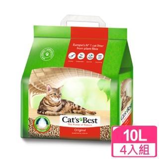 【凱優CAT'S BEST】凝結木屑砂-紅標(10LX4包)