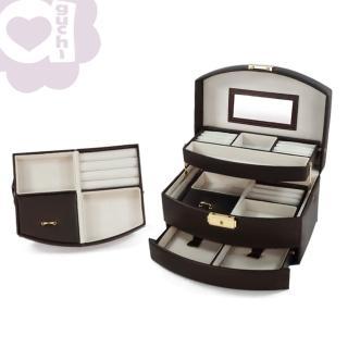 【亞古奇 Aguchi】皇家風範-貴族棕(氣質貴族系列珠寶盒)