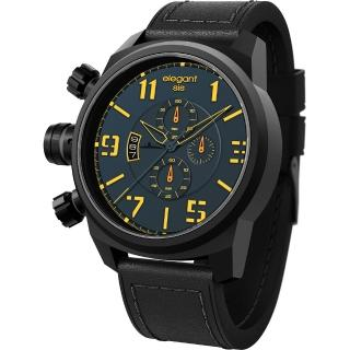 【elegantsis】Army 戰地海軍三眼計時腕錶-藍(ELJT48-OU08LC)