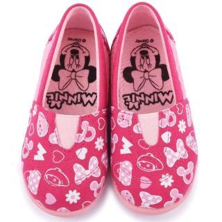 【童鞋城堡】Disney 迪士尼 中童 米妮帆布休閒鞋(453621-粉)