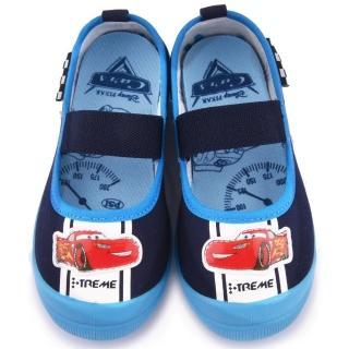 【童鞋城堡】Cars閃電麥坤 中童 賽車風室內鞋(454421-藍)