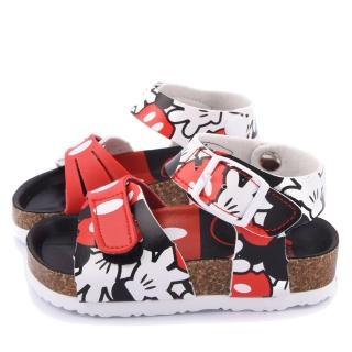【童鞋城堡】Disney迪士尼 中童 米奇經典款軟木風格涼鞋(453805-紅)