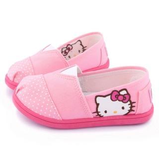 【三麗鷗】Hello Kitty 簡約設計帆布休閒鞋(715915-粉)
