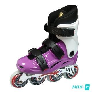 【V-MAX】鋁合金直排輪(紫白)