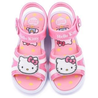 【三麗鷗】Hello kitty 中大童 蝴蝶水鑽涼鞋(815767-桃)