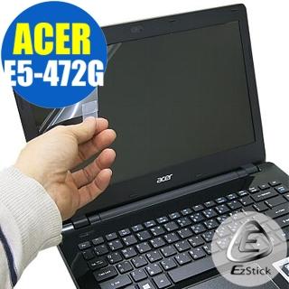 【EZstick】ACER Aspire E5-472 專用 靜電式筆電LCD液晶螢幕貼(可選鏡面或霧面)