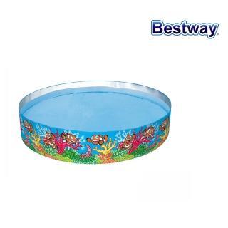 【酷博士】Bestway。Q版海底世界硬膠泳池(免充氣)(55031)