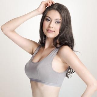【樂活人生LOHAS】台灣製頂級英國進口天絲棉機能型運動內衣 3件組(米膚/灰/黑)
