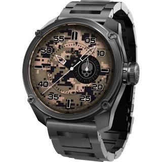 【elegantsis】Army 戰地迷彩龐克日期套錶-迷彩x黑(ELJT47-PC06MA)