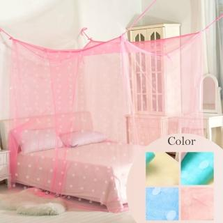 【R.Q.POLO】傳統式 雙人針織蚊帳/四角蚊帳(5尺)