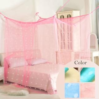 【R.Q.POLO】傳統式 雙人針織蚊帳/四角蚊帳(6尺)