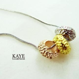 【Kaye歐美流行飾品】三色金屬項鍊