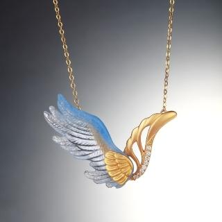 【琉璃工房LIULI PLUX】飛翔系列-飛翔(項鍊)