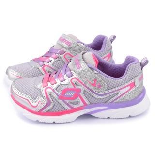 【SKECHERS】大童 輕量透氣運動鞋(81116LSLLP-銀紫)