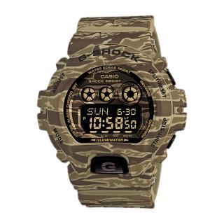 【CASIO 卡西歐 G-SHOCK 系列】超大錶徑_虎紋迷彩_反轉液晶設計(GD-X6900CM)