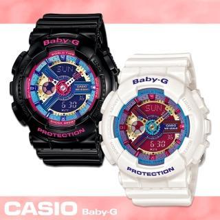 【CASIO 卡西歐 Baby-G 系列】繽紛樂高積木雙顯女錶(BA-112)