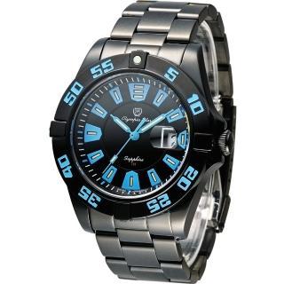 【Olympia Star】夜鷹系列 T25 運動型時尚腕錶(98019TGB 藍x黑)
