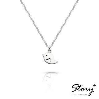 【Story Accessory】祈福項鍊 卡片銀飾小鳥款