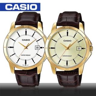 【CASIO 卡西歐】日系-紳士時尚指針型男錶(MTP-V004GL)