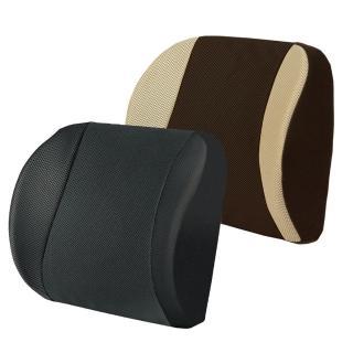 【源之氣】竹炭透氣加強記憶護腰靠墊 RM-9449(兩色可選)