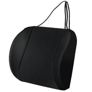 【源之氣】竹炭透氣可調式記憶護腰靠墊 RM-9452(黑色)