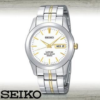 【SEIKO 精工】藍寶石水晶品味質感紳士腕錶(SGG719P1)