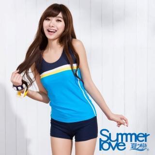 【SUMMERLOVE夏之戀】中大碼運動風二件式泳衣(S15736)
