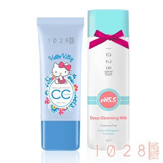 【1028】保濕CC精華霜SPF30 PA++kitty限定版 送深層卸妝乳MINI