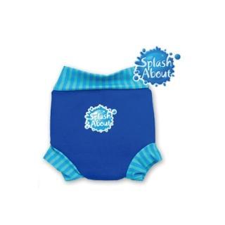 【潑寶 Splash About】游泳尿布褲(寶藍 珊瑚綠條紋)