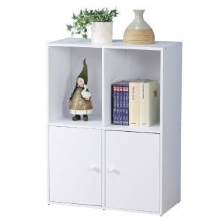 【Homelike】現代風二層二門置物櫃(三色)