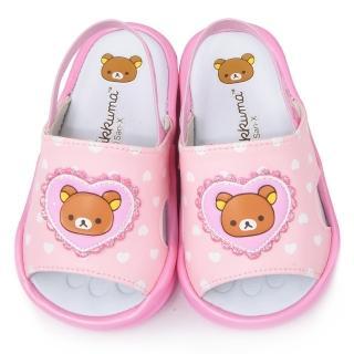 【童鞋城堡】拉拉熊 小童 學步嗶嗶後帶拖鞋(KM26076-粉)