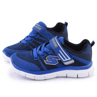 【SKECHERS】大童 輕量透氣運動鞋(95523LRYBK-藍)