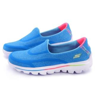 【SKECHERS】大童 輕量舒適運動休閒鞋(81052LBLU-藍)