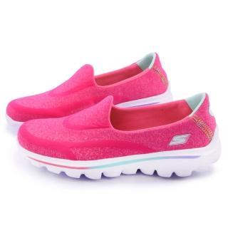 【SKECHERS】大童 輕量舒適運動休閒鞋(81052LNPNK-桃)