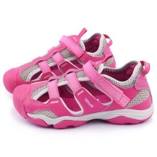 【TEVA】大童 超耐磨功能性護趾運動涼鞋(110011JPKG-桃)