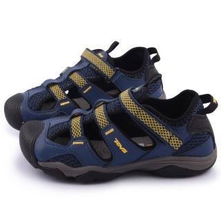 【TEVA】大童 超耐磨功能性護趾運動涼鞋(110010JNYLL-藍)
