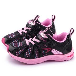【Achilles瞬足】大童 輕量機能運動鞋(ELEJ1661-黑粉)