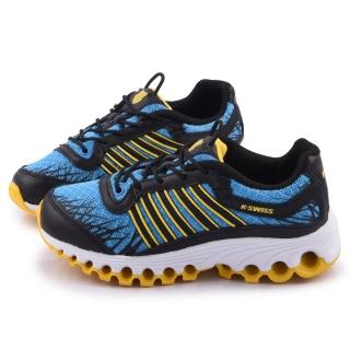 【K-swiss】大童 超輕量彈力避震運動鞋(53372-473-藍)