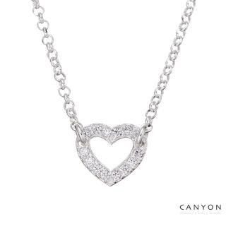 【CANYON】閃亮鏤空愛心項鍊