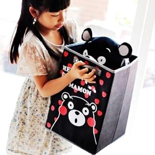 【MAY SHOP】熊本熊 熊熊 黑熊 紡布收納盒 桌上收納盒