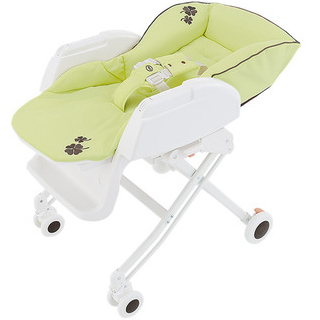 【Aprica愛普力卡】高低調節手動搖擺餐搖床椅(Nemyu STD系列- 抹茶綠)