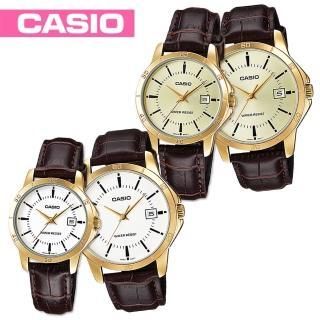 【CASIO 卡西歐】日系-甜蜜浪漫情人對錶(MTP-V004GL+LTP-V004GL)