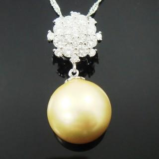 【蕾帝兒珠寶】-雪戀金色貝珠墬
